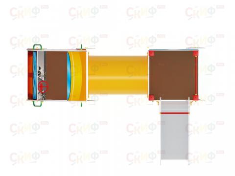 Детский игровой комплекс «Машинка с горкой 3» ДИК 1.03.1.03 Н 750