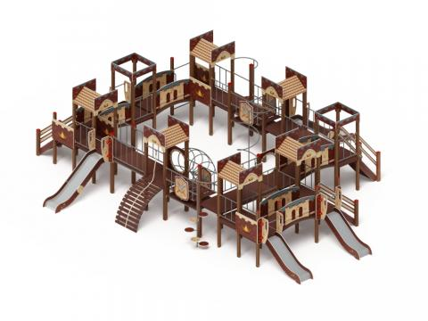 Детский игровой комплекс «Замок» ДИК 2.18.11 H=1200 H=900