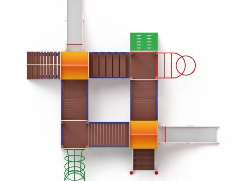 Детский игровой комплекс «Дворик детства» ДИК 2.01.4.01 H=1200