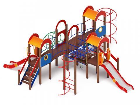 Детский игровой комплекс «Дворик детства» ДИК 2.01.4.02 H=1200