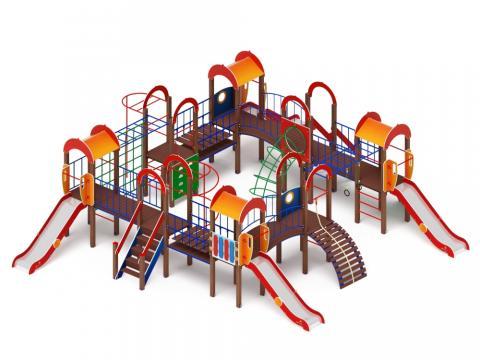 Детский игровой комплекс «Остров детства» ДИК 2.01.8.01 H=1200