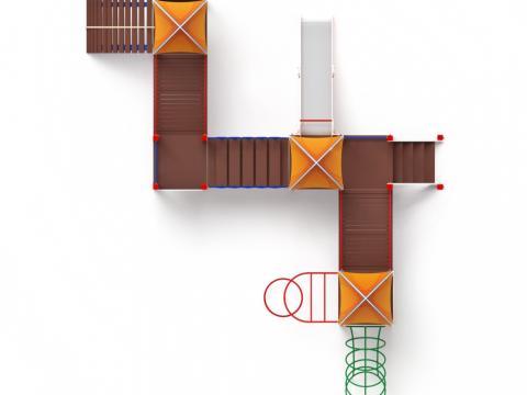 Детский игровой комплекс «Космопорт» ДИК 2.14.07 H=1200