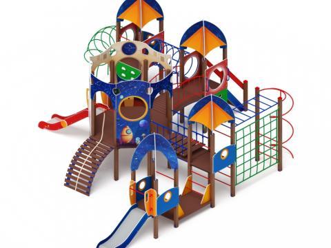 Детский игровой комплекс «Космопорт» ДИК 2.14.03 H=750 H=1200