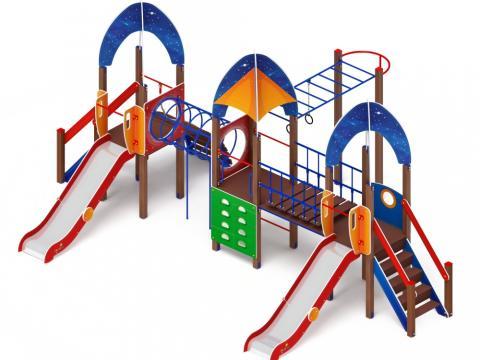 Детский игровой комплекс «Космопорт» ДИК 2.14.05 H=1200