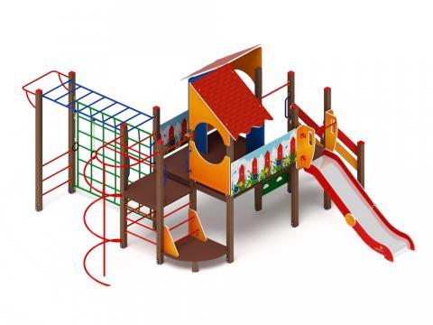 Детский игровой комплекс «Теремок» ДИК 2.07.02 H=1200