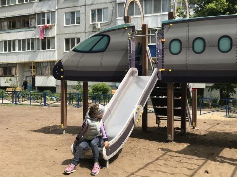 Детский игровой комплекс «Аэроплан» ДИК 2.03.4.04 H=1200