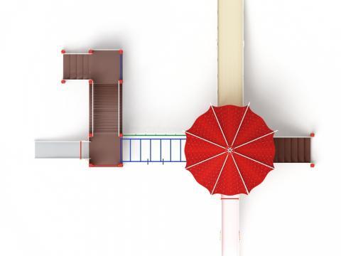 Детский Игровой комплекс «Карнавал ДИК 2.22.03 H=1500, H=900