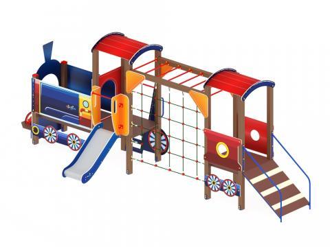 Детский игровой комплекс «Паровозик» ДИК 1.03.5.03 H=750
