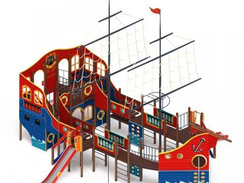 Детский игровой комплекс «Флагман» ДИК 2.03.3.03 H=1200 H=1500 H=2000