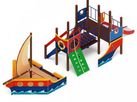 Детский игровой комплекс «Парусники» ДИК 2.03.3.02 H=1200