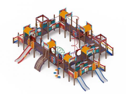 Детский игровой комплекс «Замок» ДИК 2.18.11-01 H=1200 H=900