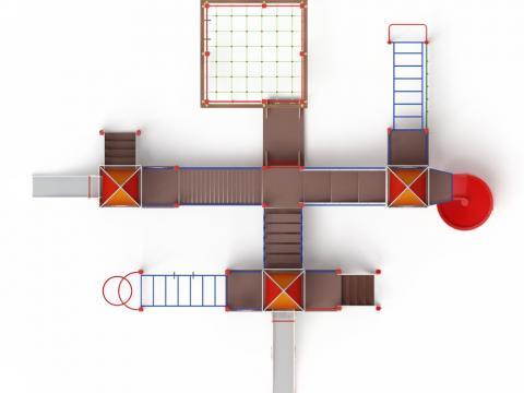 Детский игровой комплекс «Волшебный город» ДИК 2.19.03 H=2000 H=1200 H=900