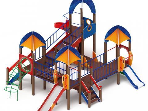 Детский игровой комплекс «Космопорт» ДИК 2.14.02 H=750  H=1200  H=2000