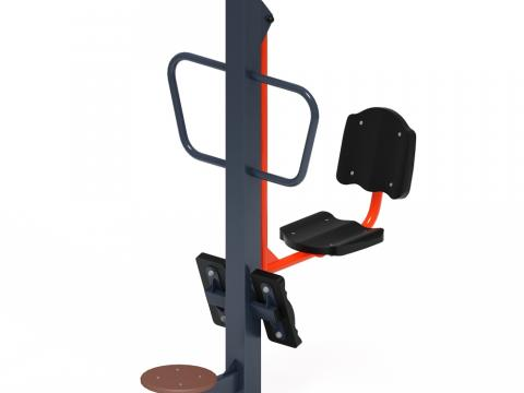 Тренажер уличный «Жим ногами + твистер» СТ 022-01