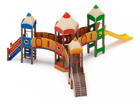 Детский игровой комплекс  «Карандаши» ДИК 2.26.04 Н=1200