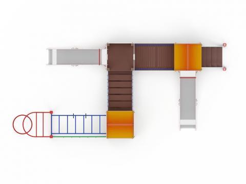 Детский игровой комплекс «Городок» ДИК 2.01.3.02 H=1200