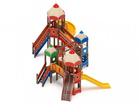 Детский игровой комплекс «Карандаши» ДИК 2.26.06 H=1200/2000