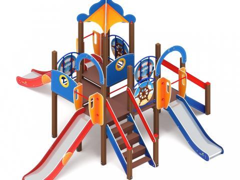 Детский игровой комплекс «Морской» ДИК 2.17.04 H=900 H=1200 H=1500