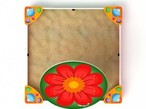 Песочница с навесом - цветок  ИО 5.01.08-01