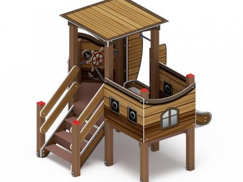 Детский игровой комплекс «Катерок»  ДИК 1.03.3.01-01 H=750