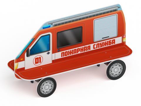 Скамейка детская Пожарная машинаМФ 41.03.01-01
