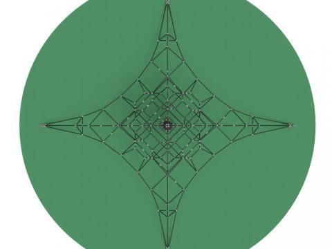 Пирамида (на резиновое покрытие) СК 2.05.08-РК (сетка)