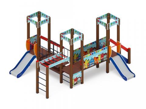 Детский игровой комплекс «Королевство» (Коты)  ДИК 1.15.08-01 H=750