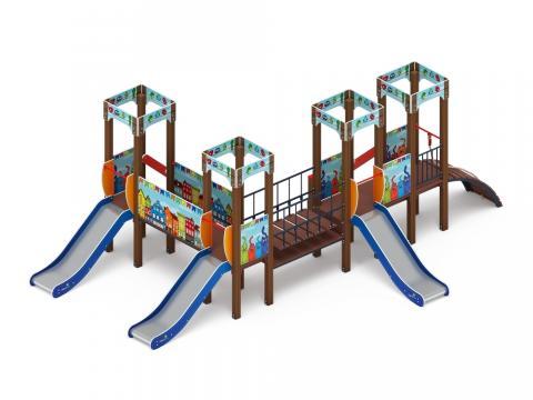 Детский игровой комплекс «Королевство» (Коты) ДИК 1.15.04-01 H=900