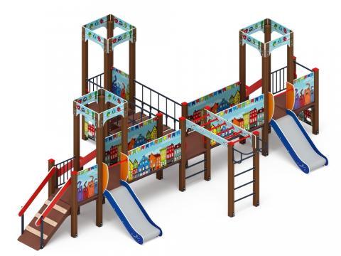 Детский игровой комплекс «Королевство» (Коты) ДИК 1.15.05-01 H=750