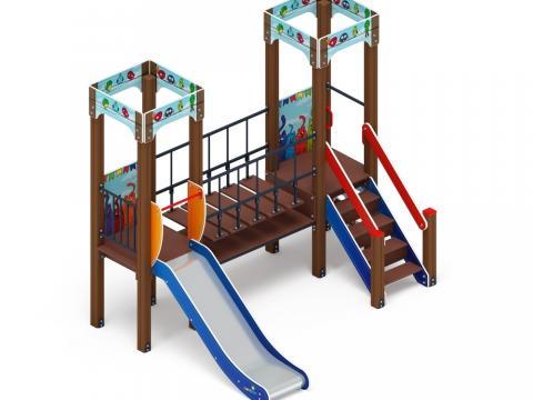 Детский игровой комплекс «Королевство» (Коты) ДИК 1.15.07-01 H=900