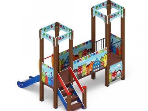 Детский игровой комплекс «Королевство» (Коты) ДИК 1.15.02-01 H=750