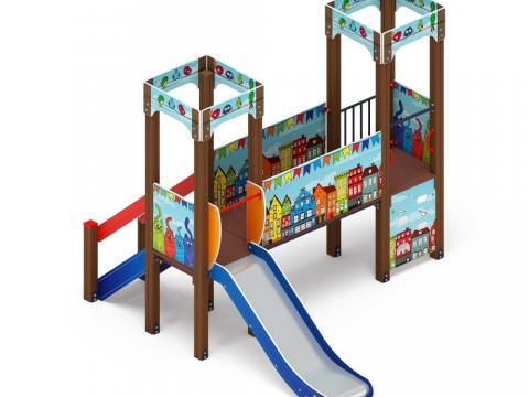 Детский игровой комплекс «Королевство» (Коты) ДИК 1.15.06-01 H=900