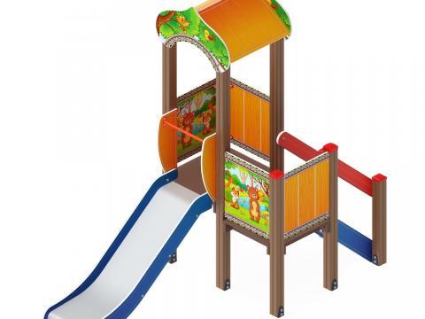 Детский игровой комплекс «Полянка» ДИК 1.16.02 H=900