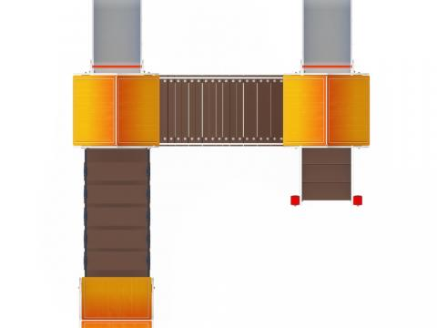 Детский игровой комплекс «Полянка» ДИК 1.16.04 H=750