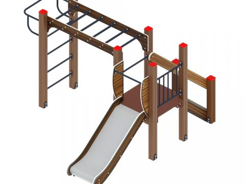 Детский игровой комплекс «Карапуз» ДИК 1.001.02-01 H=750