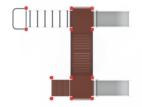 Детский игровой комплекс «Карапуз»  ДИК 1.001.04-01 H=750