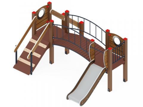 Детский игровой комплекс «Карапуз» ДИК 1.001.06-01 H=750