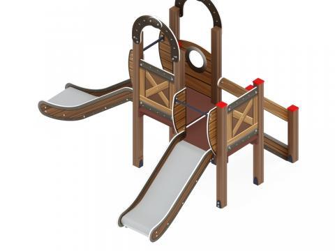 Детский игровой комплекс «Карапуз» ДИК 1.001.07-01 H=750  Н=900
