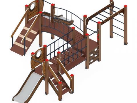 Детский игровой комплекс «Карапуз» ДИК 1.001.08-01 H=750