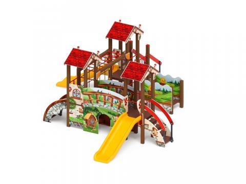 Детский игровой комплекс «В гостях у сказки» ДИК 1.05.01-09 H=900
