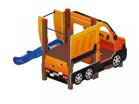 Детский игровой комплекс «Машинка с горкой 1» ДИК 1.03.1.01-01  Н 750