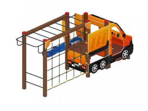 Детский игровой комплекс «Машинка с горкой 2» ДИК 1.03.1.02-01 Н 750