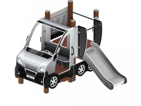 Детский игровой комплекс «Машинка с горкой 1» ДИК 1.03.1.01-02 Н 750