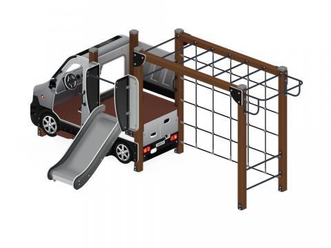Детский игровой комплекс «Машинка с горкой 2» ДИК 1.03.1.02-02 Н 750