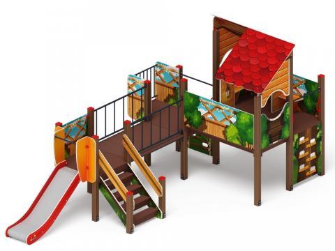 Детский игровой комплекс «Теремок» ДИК 1.07.01-01 Н=900