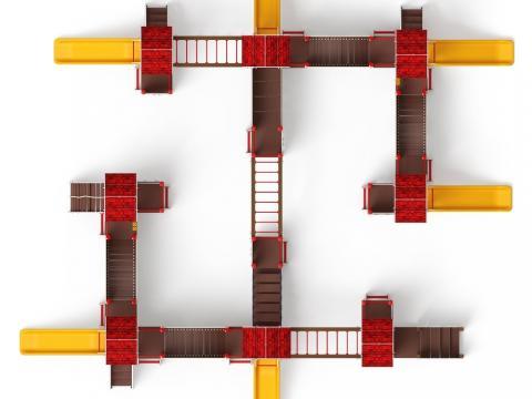 Детский игровой комплекс «В гостях у сказки» ДИК 1.05.01-11 H=900
