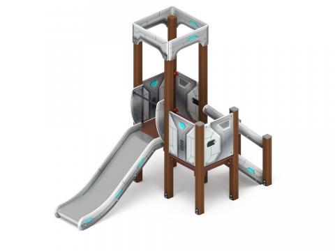 Детский игровой комплекс «Королевство» (Техно) ДИК 1.15.01-02 H=900