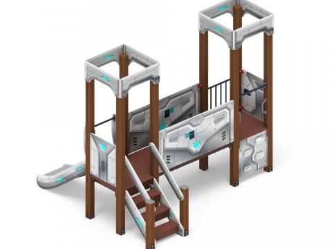 Детский игровой комплекс «Королевство» (Техно) ДИК 1.15.02-02 H=750