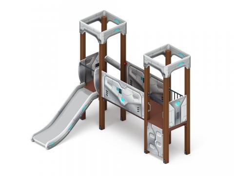 Детский игровой комплекс «Королевство» (Техно) ДИК 1.15.06-02 H=900