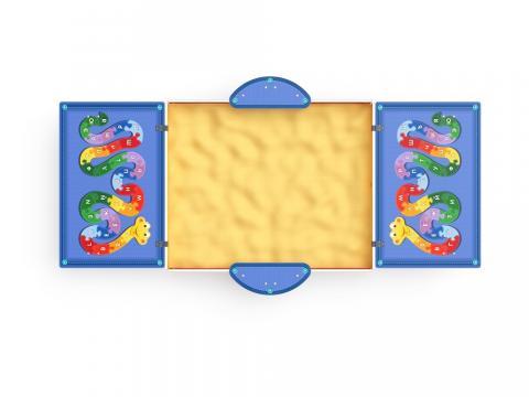 Песочница с крышкой Азбука (средняя) ИО 5.01.11-05